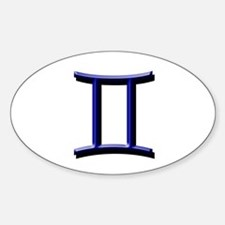 Gemini Blue Oval Bumper Stickers