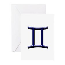 Gemini Blue Greeting Cards (Pk of 10)