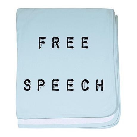 Free Speech baby blanket (pink or blue)