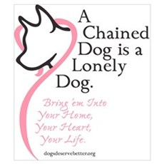 A Chained Dog is a Lonely Dog Canvas Art