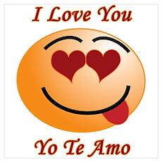 I Love You/Yo Te Amo Poster