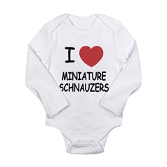 miniature schnauzers Long Sleeve Infant Bodysuit