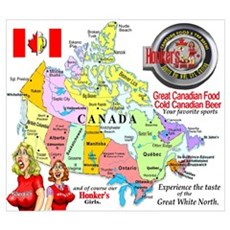 Honker's Canadian Sports Bar Locations Poster