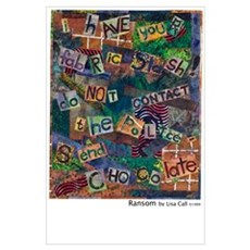 Ransom Note Art Quilt Poster