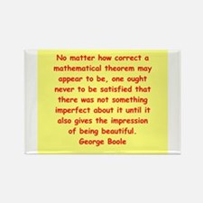 George Boole quote Rectangle Magnet