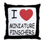 miniature pinschers Throw Pillow