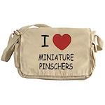 miniature pinschers Messenger Bag