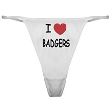 I heart badgers Classic Thong