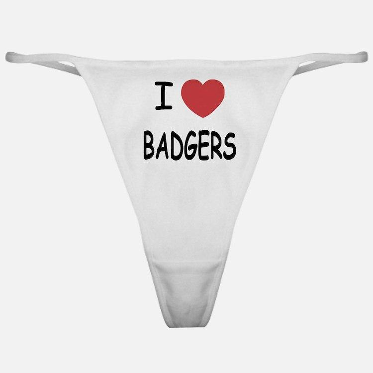 I heart badgers Classic Thong