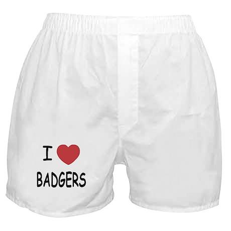 I heart badgers Boxer Shorts