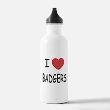I heart badgers Water Bottle