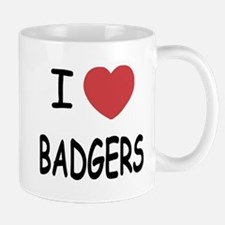 I heart badgers Mug