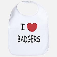 I heart badgers Bib