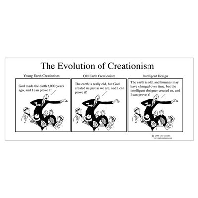 Evolution of Creationism Poster