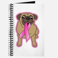 Pink Ribbon Fawn Pug Journal