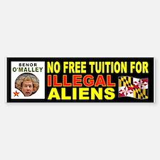 DEPORT ILLEGAL ALIENS Sticker (Bumper)