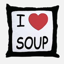 I heart soup Throw Pillow