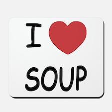 I heart soup Mousepad