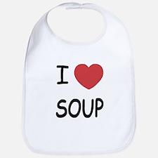 I heart soup Bib