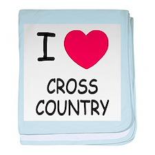 I heart cross country baby blanket