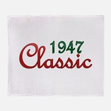 Funny Vintage 1947 Throw Blanket