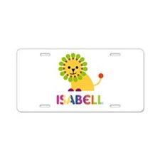 Isabell the Lion Aluminum License Plate