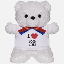 I heart good vibes Teddy Bear