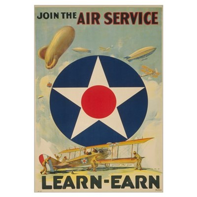 Join the Air Service Large Military Framed Print