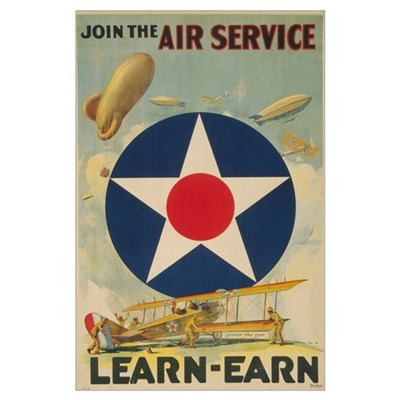 Join the Air Service Large Military Poster