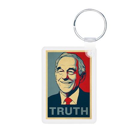 Ron Paul Truth Aluminum Photo Keychain