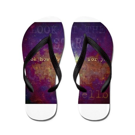 Look At The Stars Flip Flops