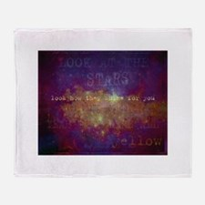 Look At The Stars Throw Blanket