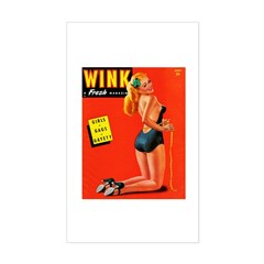 Wink Vintage Blonde in Black Cover Decal