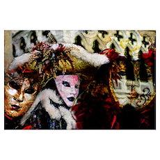 Mardi Gras Mask Collage Poster