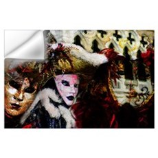 Mardi Gras Mask Collage Wall Decal