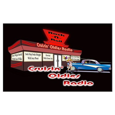 Cruisin Oldies Radio Canvas Art