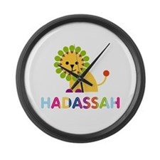 Hadassah the Lion Large Wall Clock