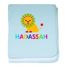 Hadassah the Lion baby blanket