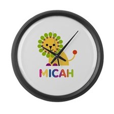 Micah the Lion Large Wall Clock