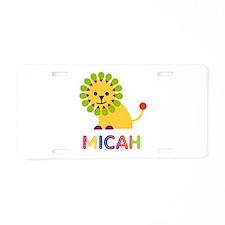 Micah the Lion Aluminum License Plate