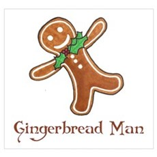 Gingerbread Man Poster