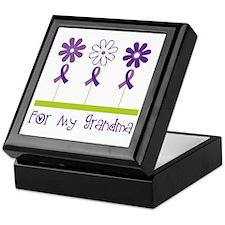 Alzheimers For My Grandma Keepsake Box