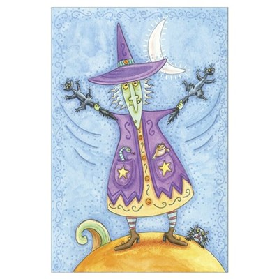 Funny Purple Witch Poster