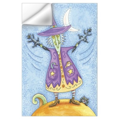 Funny Purple Witch Wall Decal