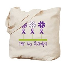 Alzheimers For My Grandpa Tote Bag