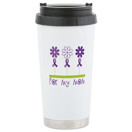 Alzheimers For My Mom Stainless Steel Travel Mug