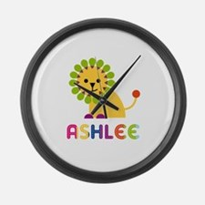 Ashlee the Lion Large Wall Clock