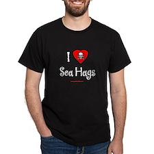 I (heart) Sea Hags Black T-Shirt