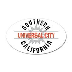 Universal City California 38.5 x 24.5 Oval Wall Pe