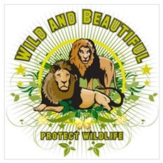Wild Lions Poster